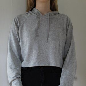 Athletic Cropped Sweater with Hood
